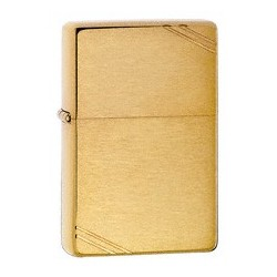Zippo 240 Vintage Brushed Brass w/slashes tulemasin