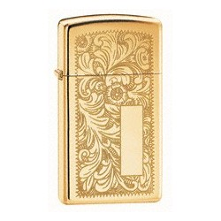 Zippo 1652B Slim Venetian High Polish Brass tulemasin