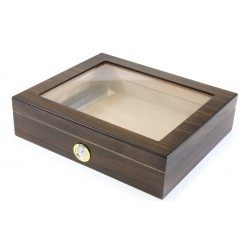 Humidor walnut finish glass window